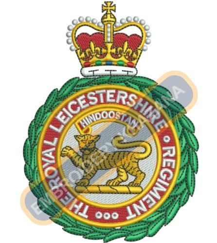 The Royal Leicestershire Regiment embroidery design