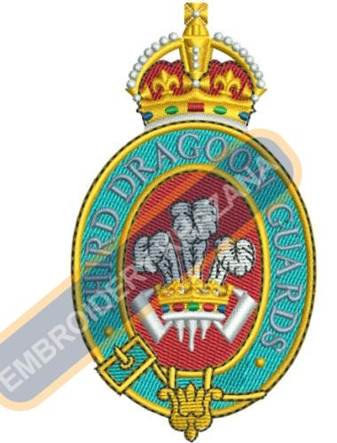 3RD DRAGOON GUARDS Crests embroidery design