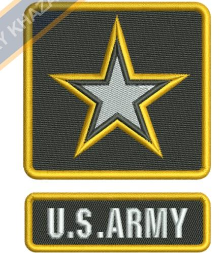 The us Army logo embroidery design