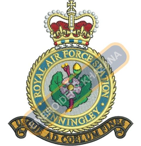 Royal air force crest embroidery design