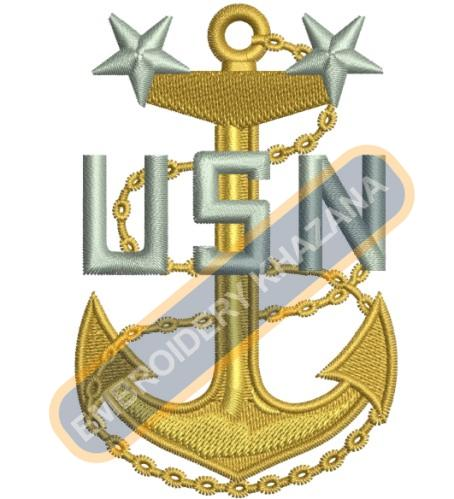 Navy clipart chief embroidery design