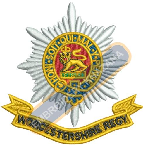 worcestershire regy crest embroidery design