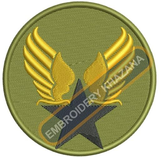 Military army embroidery design