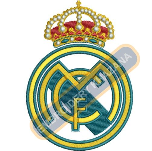 Real madrid fc instant embroidery design