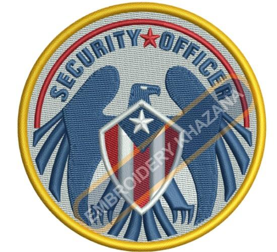 united states security officer crest embroidery design