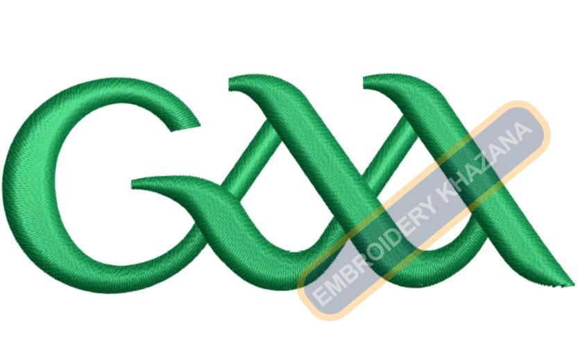 Gaelic Athletic Association Logo Embroidery Designs