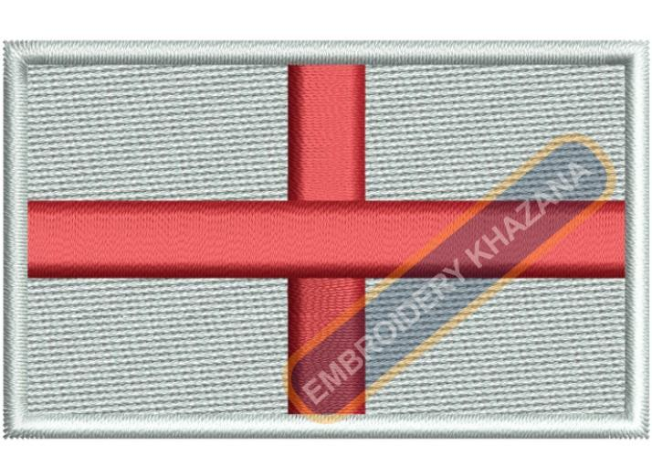 England Flag embroidery design