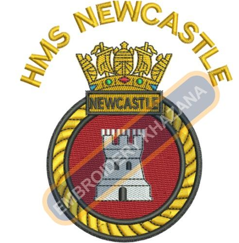 Hms Newcastle crest embroidery design