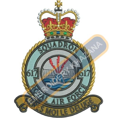 617 Squadron Royal Air Force embroidery design