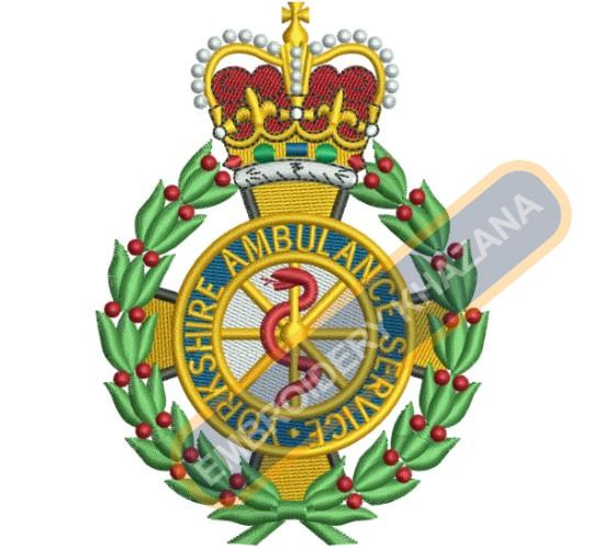 Yorkshire Ambulance crest embroidery design