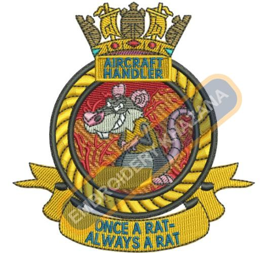 Aircraft Hander crest embroidery design