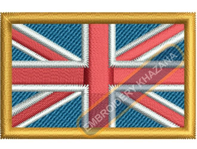 Union jack flag embroidery design