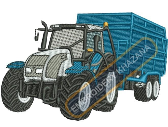 tractor with trolley