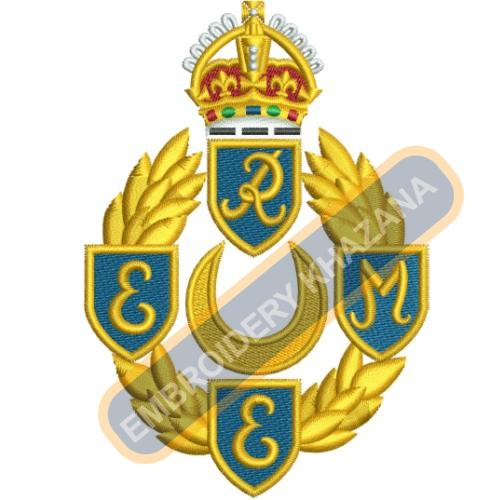 REME Royal Electrical and Mechanical embroidery design