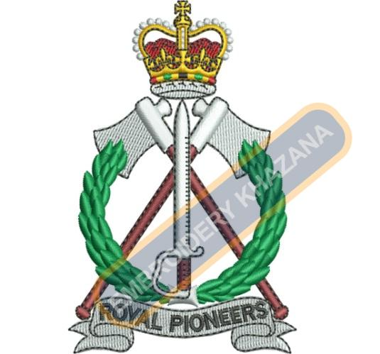 royal pioneers embroidery design