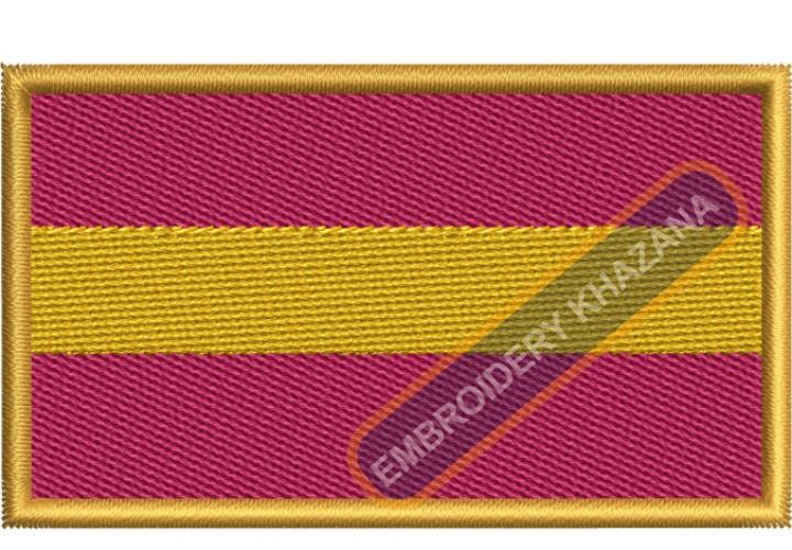 Spain civil flag embroidery design