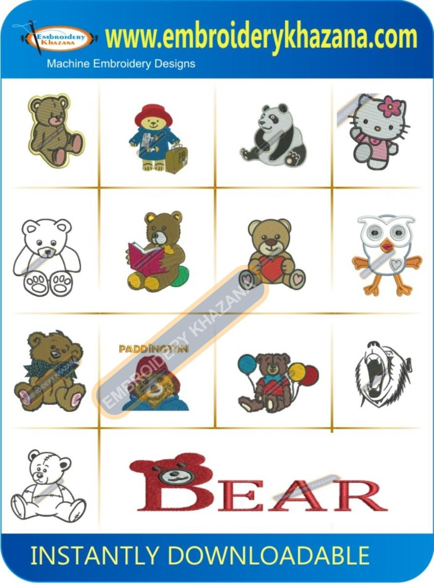 Teddy Bear Embroidery Designs