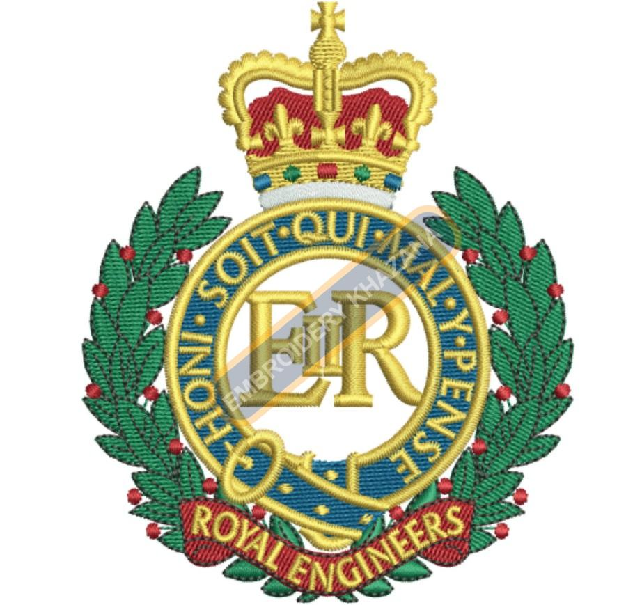 royal engineers embroidery design