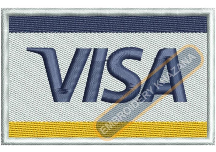 Visa Card Logo Embroidery Designs