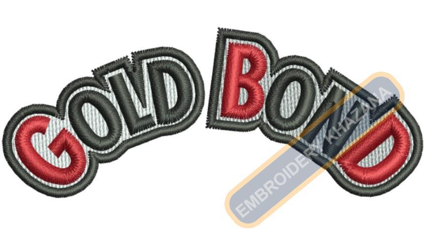 Gold Bond Logo Embroidery Designs