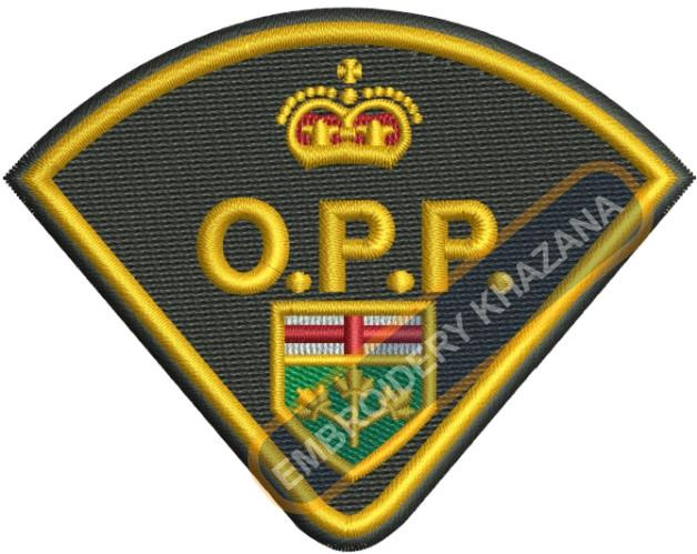Ontario Provincial Police Logo Embroidery Designs