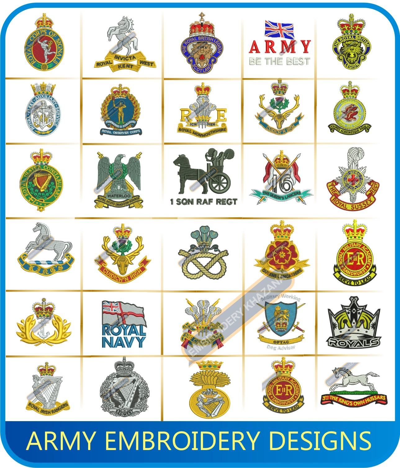 Army Military Embroidery Designs