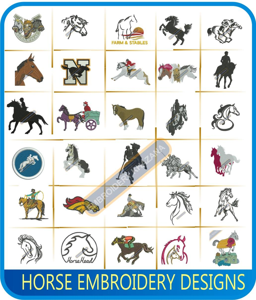 Horse Machine Embroidery Designs