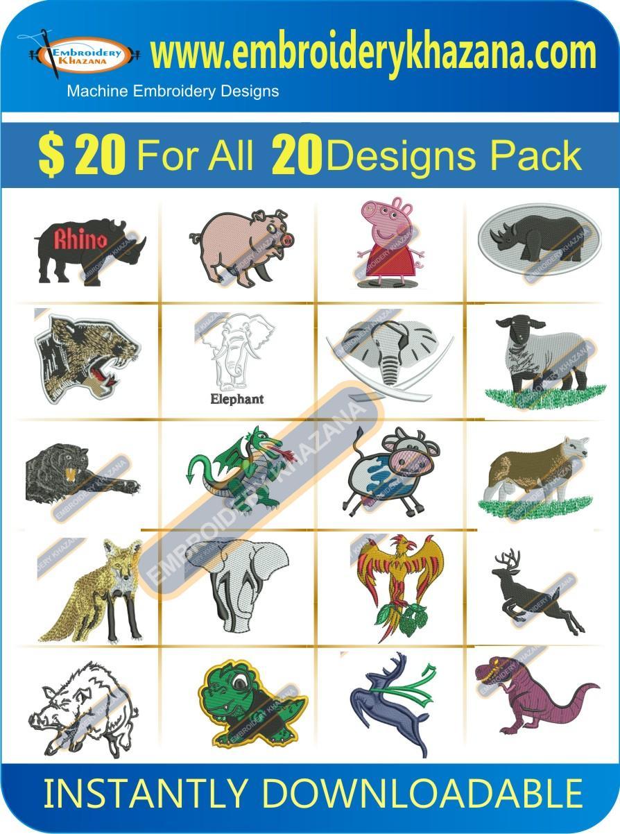 Animal Designs Pack 2