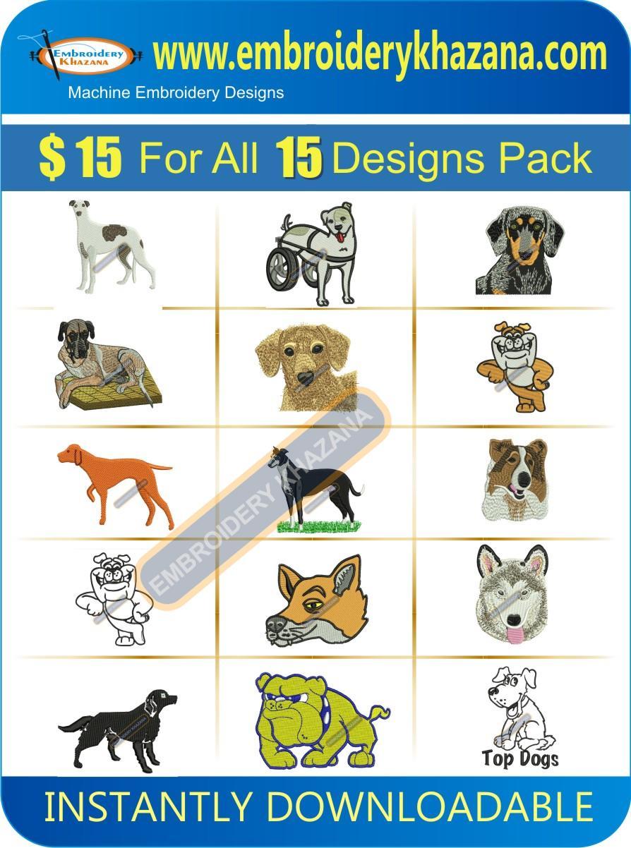 Dog Designs Pack 1