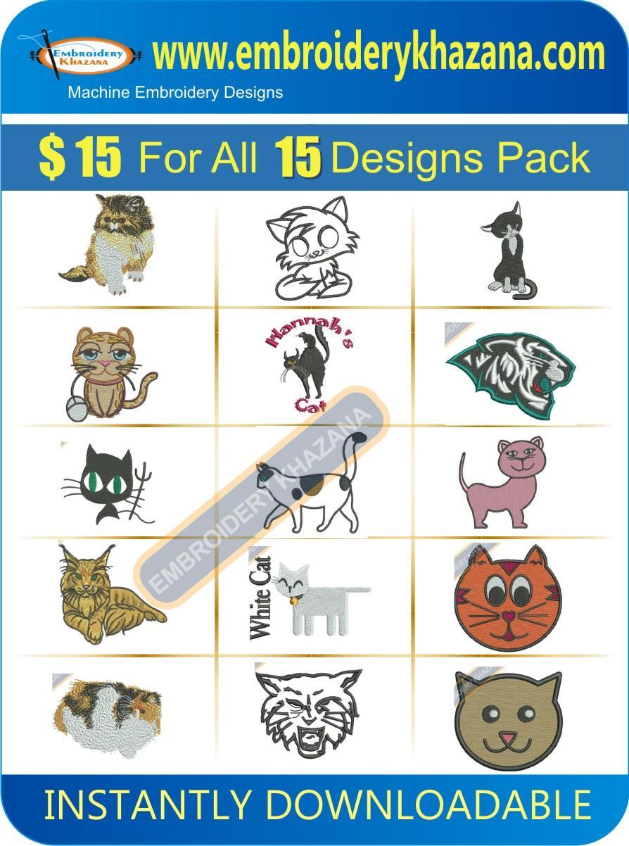 Cat Designs Pack 2