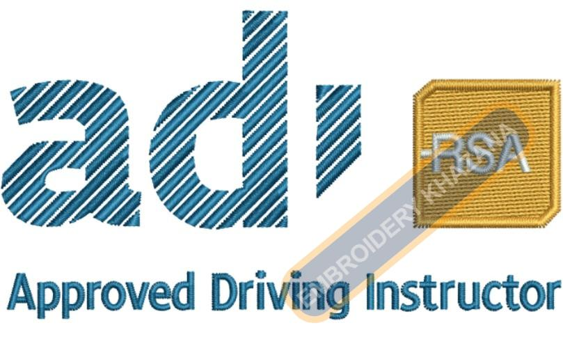 Approved Driving Instructor Logo Embroidery Designs