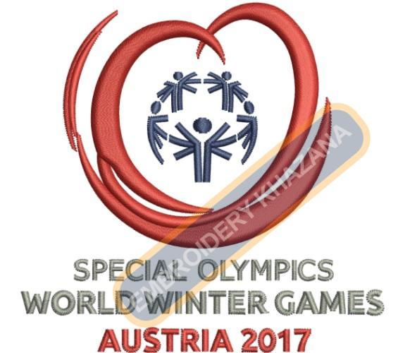 Special Olympics World Winter Games Logo Embroidery Designs