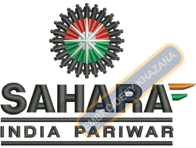 Sahara India Pariwar Logo Embroidery Designs