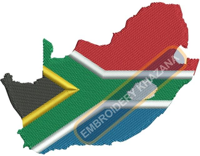South Africa Map embroidery design