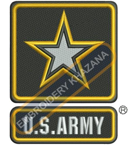 Us Army instant embroidery design