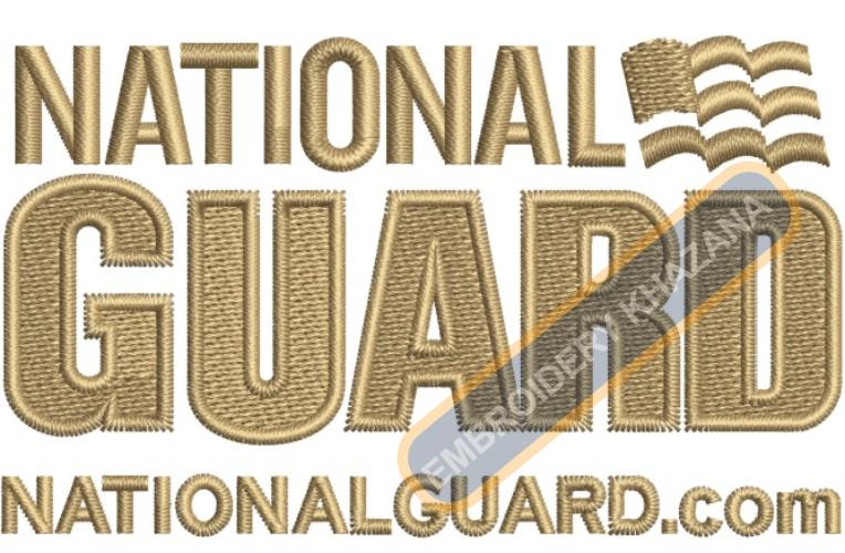 National Guard army embroidery design
