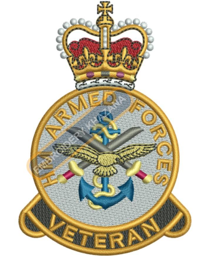 hm armed forces embroidery design