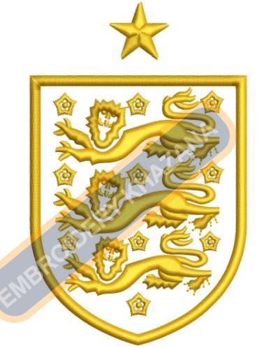 England FA Logo Embroidery Designs