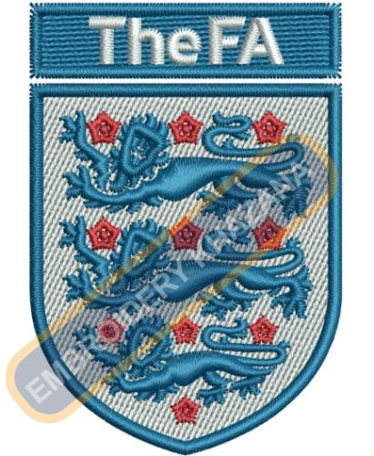 The Football Association Logo Embroidery Designs