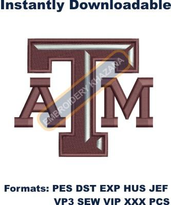 texas aggie football logo embroidery design