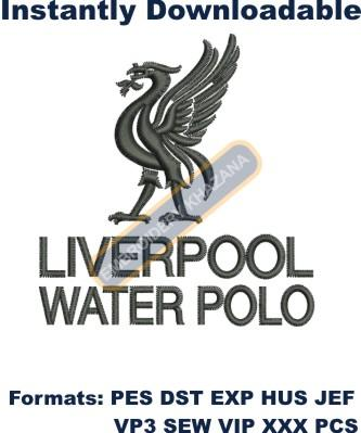 Liverpool Water logo embroidery design