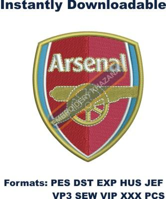Arsenal Football Club Embroidery Design