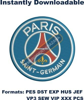Paris Saint Germain fc logo embroidery design