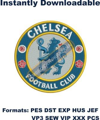 chelsea football club logo embroidery design