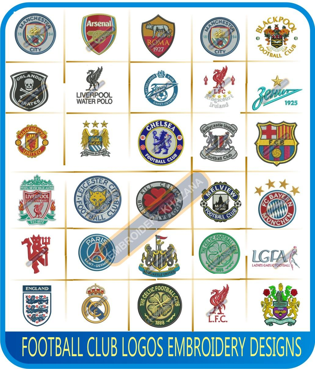 Football Club Logos Embroidery Designs