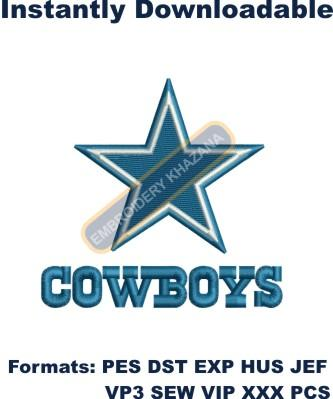 Dallas Cowboys Helmet Machine Embroidery Digital Design