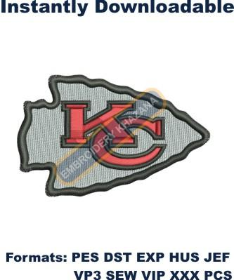 Kansas City Chiefs logo embroidery design