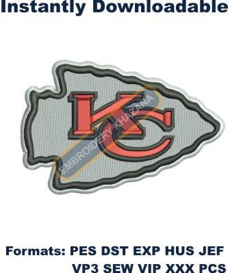 Kansas City Chiefs Logo Embroidery Design