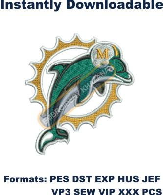 miami dolphins logo embroidery designs