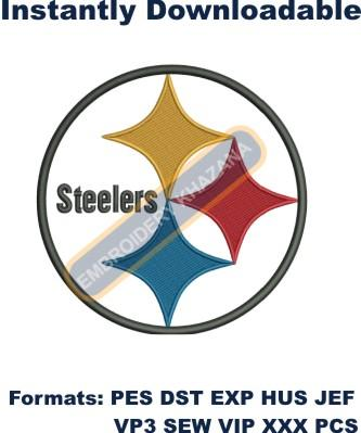 Pittsburgh Steelers Logo Embroidery Design